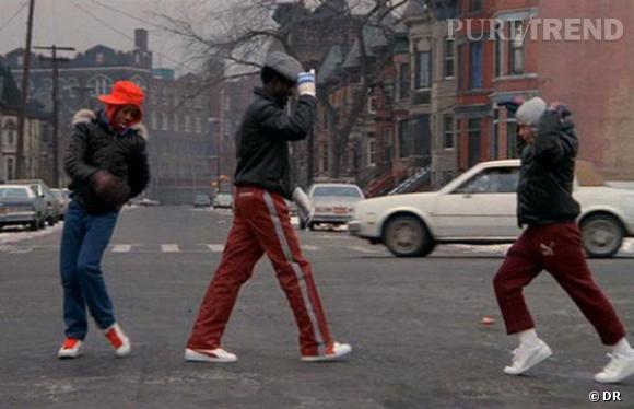 """Puma Suede / Beat Street de Stan Lathan, 1984. Fournisseur officiel du film, Puma a fait de son modèle Suede la référence pour les fans de hip-hop des années 80. Même si le film a moins de succès que le documentaire """"Wild Street"""", sorti un an avant."""