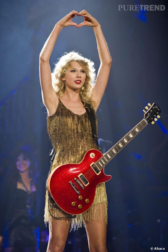 Qui ?   Taylor Swift     L'opération séduction ?   le coeur. Rien de mieux pour prouver à son public qu'on l'aime. Ah, quelle générosité.