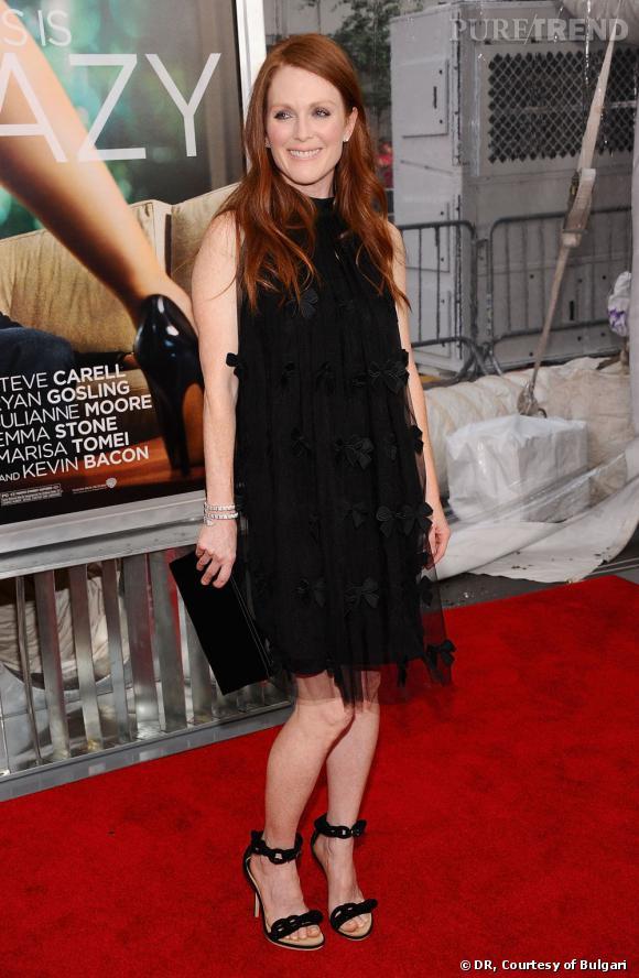 """Julianne Moore lors de la première du film """"Crazy Stupid love"""" à New York."""