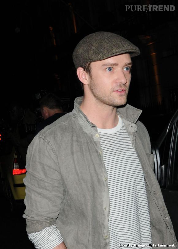 Justin Timberlake en balade dans les rues de Londres.