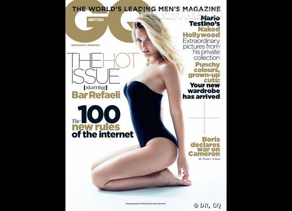 Bar Refaeli, au summum de la sexy-attitude en couverture du GQ British du mois de septembre.