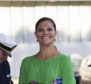 La Princesse Victoria de Suede camoufle ses rondeurs