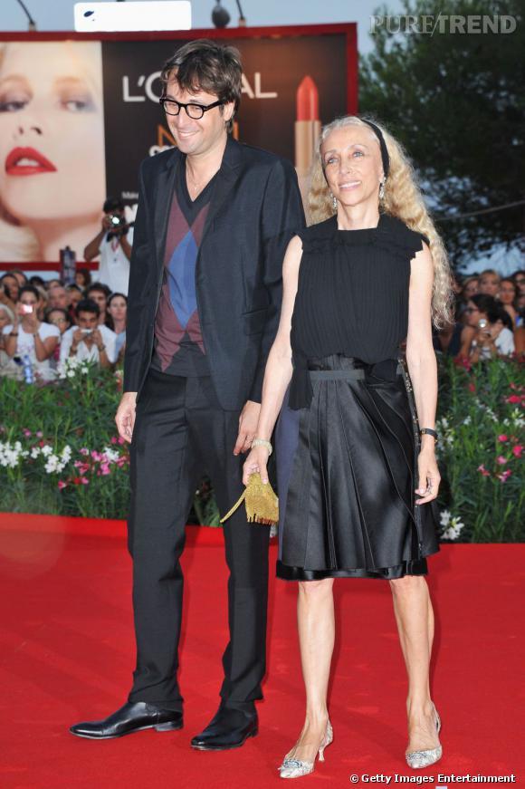 Francesco Vezzoli et Franca Sozzani, rédactrice en chef du  Vogue Italia .