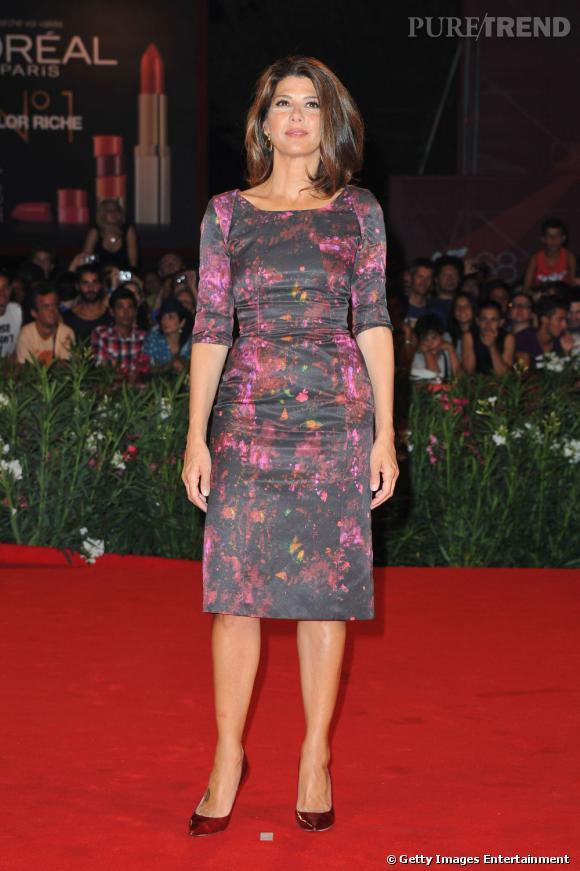 """L'actrice Marisa Tomei à l'avant première de """"W.E""""."""