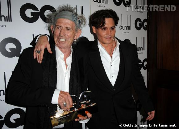 Keith Richards et Johnny Depp, un duo tendance.