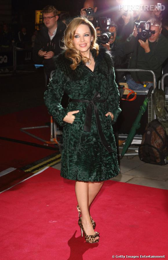 Kylie Minogue, toujours un brin tigresse.
