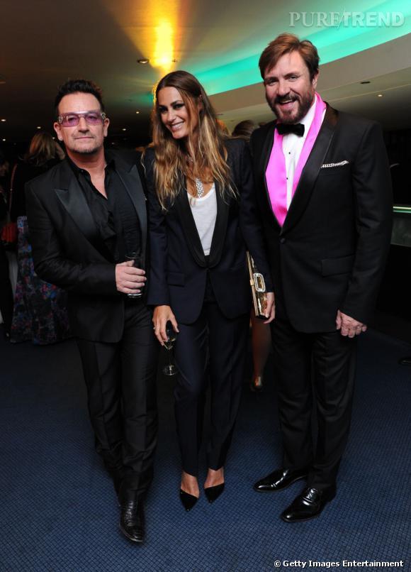 Bono, Yasmin le Bon et Simon le Bon.