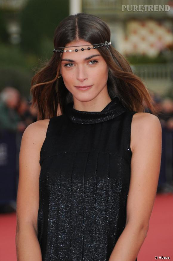 """Elisa Sednaoui à la première de """"The Conspirator"""" au Festival du Cinéma Américain de Deauville."""