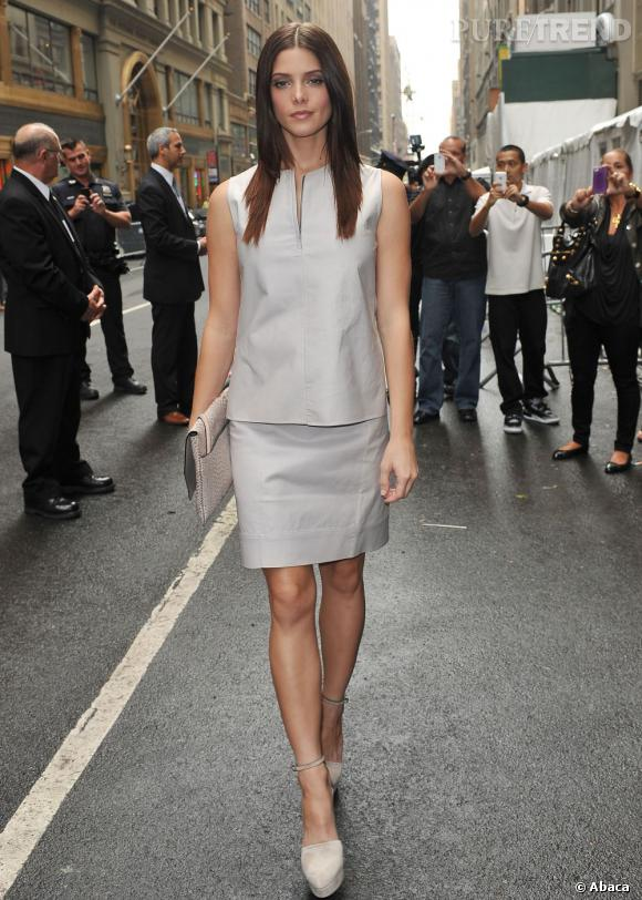 Ashley Greene lors du défilé Calvin Klein à New York.
