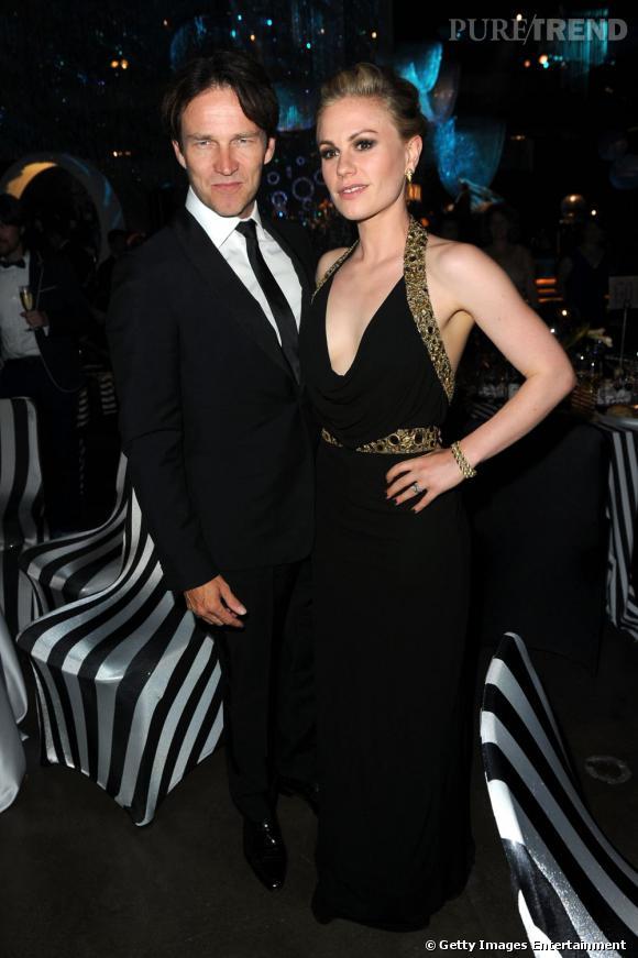 "Stephen Moyer et Anna Paquin de ""True Blood""."