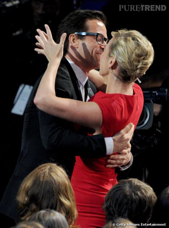 Kate Winslet particulièrement affectueuse avec la gent masculine ce soir-là.