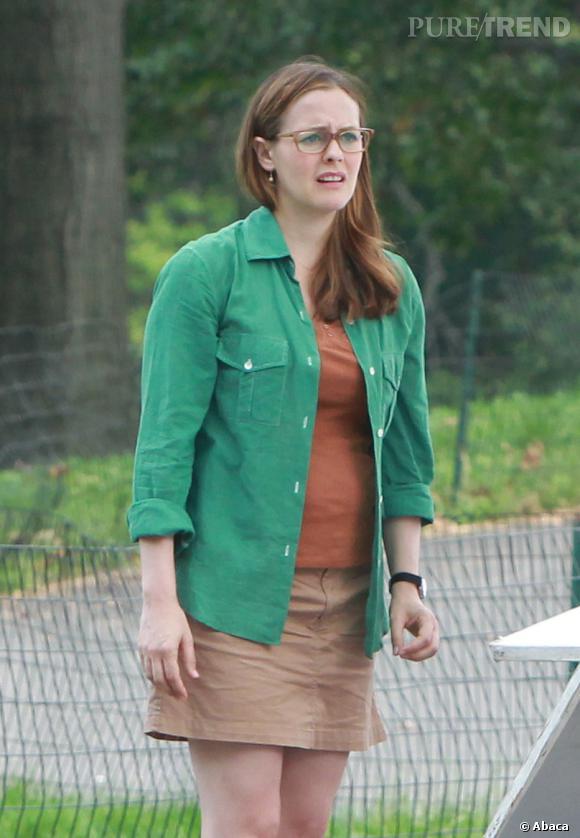 "Alicia Silverstone sur le tournage du film ""Gods Behaving Badly"" à New York."