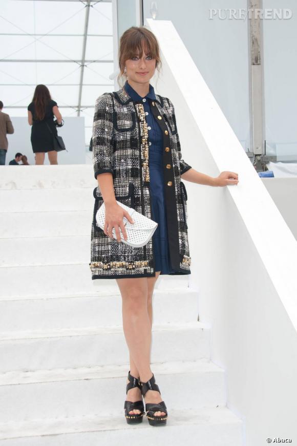 Chez Louis Vuitton, Olivia Wilde a joué les femmes fatales.