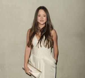 Devon Aoki dans une robe crème à la soirée Vanity Fair.