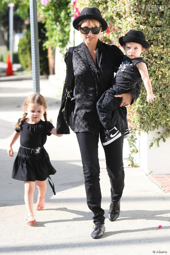 Nicole Richie et ses babies rockers : Harlow Winter Kate Madden et Sparrow James Midnight Madden.