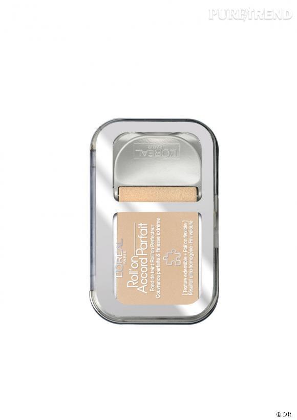 Shopping petits prix : les fonds de teint pas chers     Roll' on Accord Parfait, L'Oréal, 15,32 euros