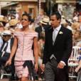 Au mariage de son oncle le Prince Albert et de Charlene Wittstock, la superbe Charlotte Casiraghi était somptueuse en robe rose poudré Chanel.