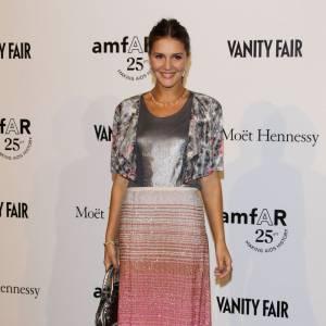 Margherita Missoni, reine du style à l'italienne, porte une jupe griffée de sa marque éponyme dégradée.