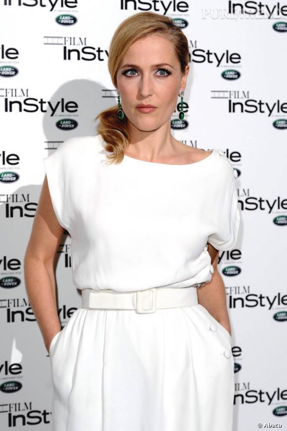 Gillian Anderson à la soirée Instyle organisée à Londres.
