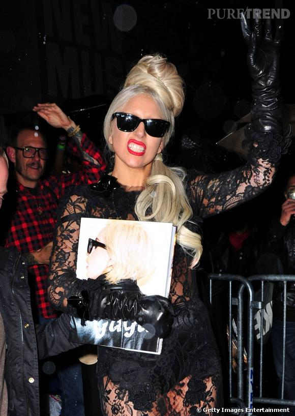 "Lady Gaga lors du lancement de son livre ""Lady Gaga x Terry Richardson"" à New York."