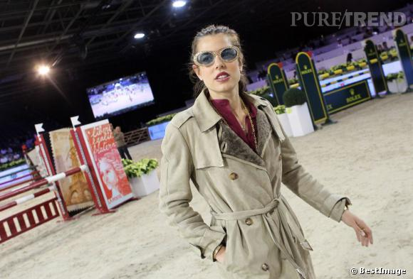 Charlotte Casiraghi aux Gucci Masters 2011 à Villepinte.