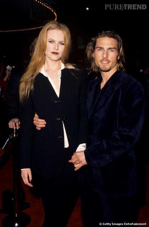 """Le top """"ma femme est plus grande que moi"""" :  pas tout à fait au même niveau mais tout de même plus équilibrés, Tom et Nicole sont bien assortis."""