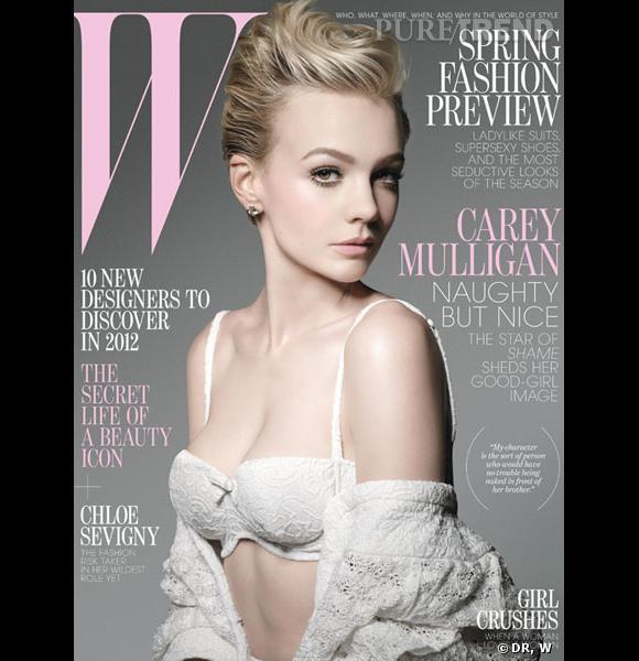 Carey Mulligan pour le numéro de janvier 2012 de W Magazine.