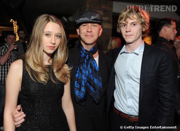 """Taissa Farmiga, Ryan Murphy, le réalisateur de la série, et Evan Peters, qui joue le rôle du déjanté Tate dans """"American Horror Story""""."""