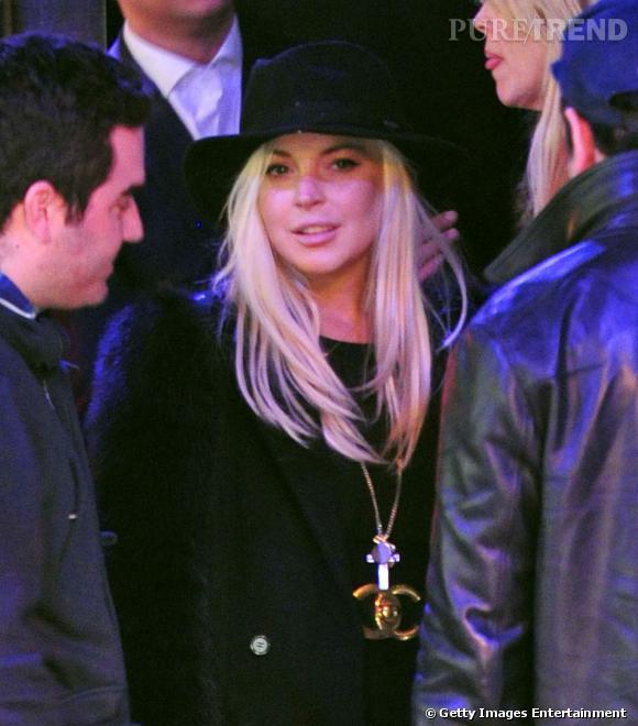 Lindsay Lohan à la sortie de la boite de nuit new-yorkaise  Beaumarchais.