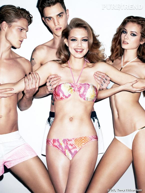 Campagne Just Cavalli, Printemps-Eté 2012.