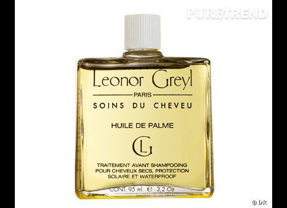 Les huiles capillaires :     Huile de palme, Léonor Greyl. 28 €.