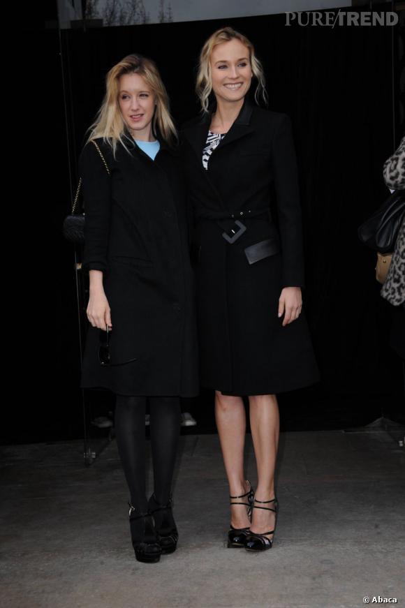 Ludivine Sagnier pose aux côtés de Diane Kruger.