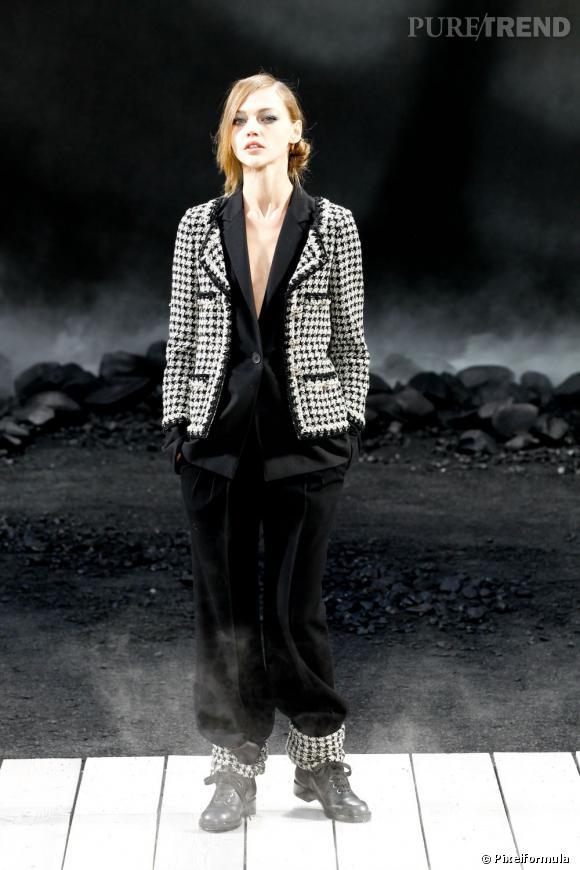 La tendance pied-de-poule sur les podiums    Chanel  Saison Automne-Hiver 2011/2012