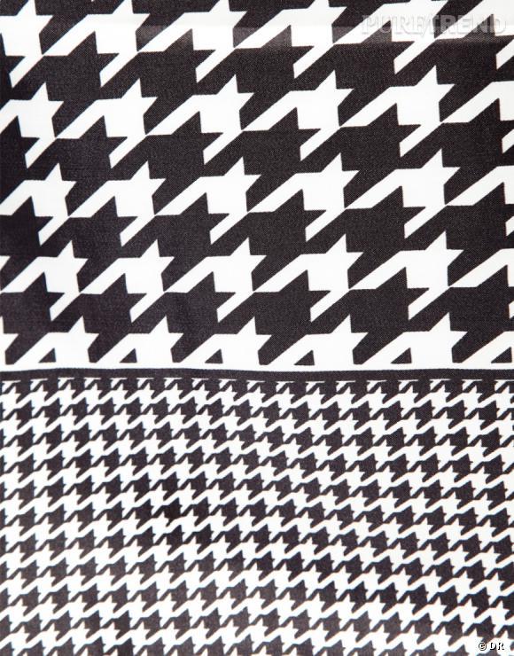 Tendance pied-de-poule : le shopping    Foulard imprimé pied-de-poule Asos, 10,48 € chez  Asos .