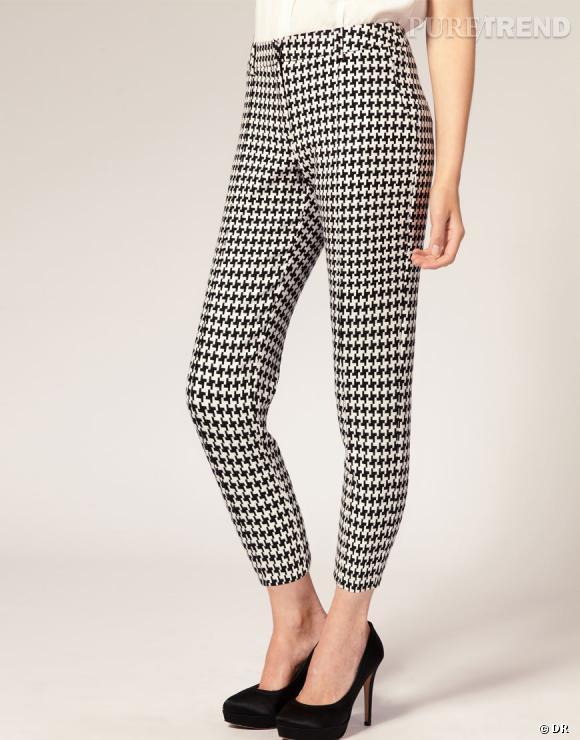 Tendance pied-de-poule : le shopping    Pantalon slim pied-de-poule Asos, 27,95 € chez  Asos .
