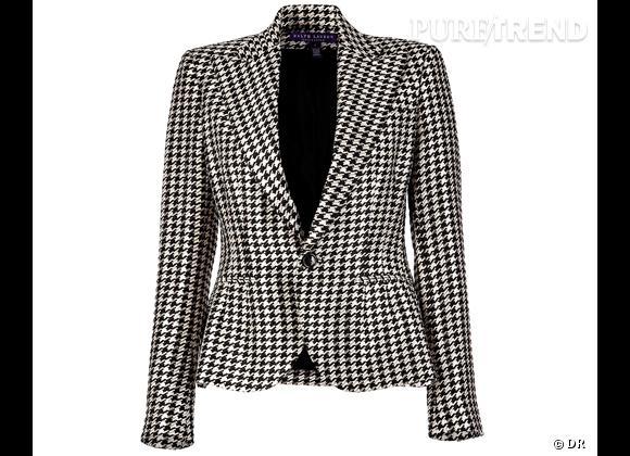 Tendance pied-de-poule : le shopping    Veste Ralph Lauren Collection, 1134 € chez  Stylebop .