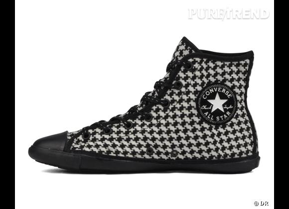 Tendance pied-de-poule : le shopping    All Star Light Converse, 35 € chez  Sarenza .