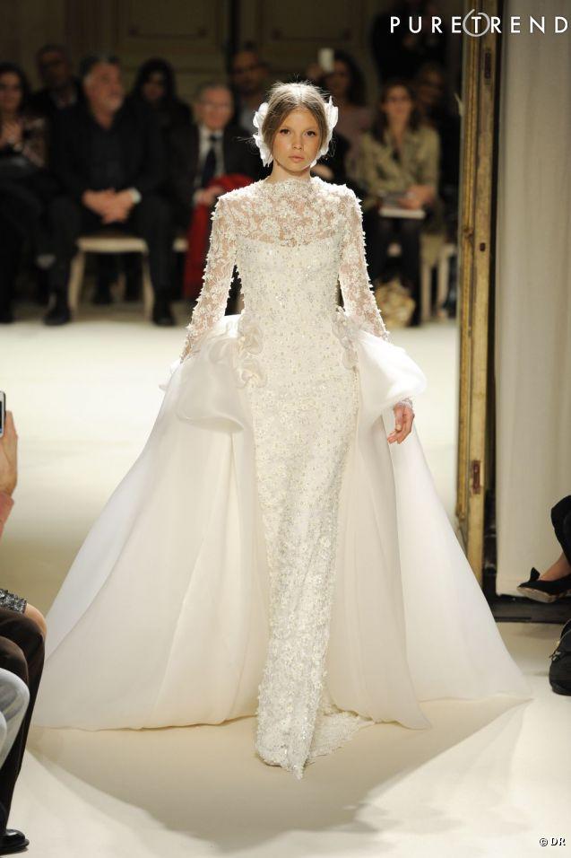 je veux une robe de mari e haute couture georges hobeika printemps et 2012 copier l. Black Bedroom Furniture Sets. Home Design Ideas