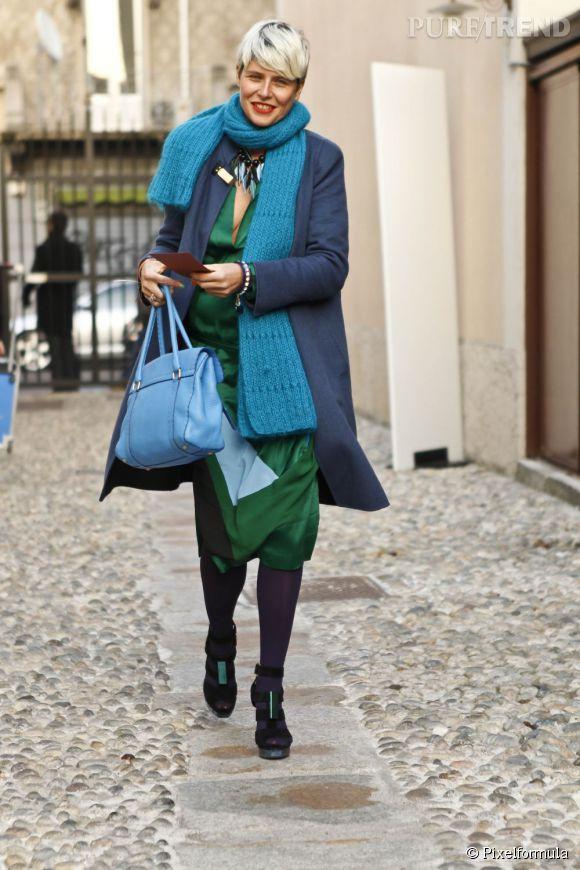 Qui a dit que les couleurs étaient bannies du dressing de décembre à avril ? La superposition de pièces colorées offre un camaïeu qui réchauffe l'hiver !