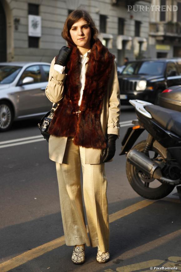 Le col en fourrure aussi opère un come back, parfait pour personnaliser ses vestes et ses manteaux, mais surtout pour se réchauffer le cou.