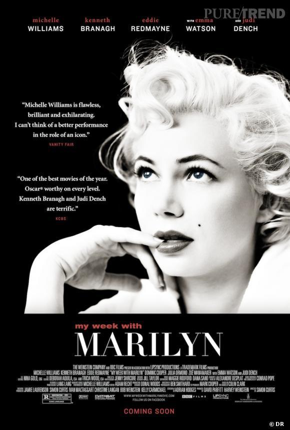 """""""My Week With Marilyn"""", en bonne route pour le prix du meilleur film britannique."""