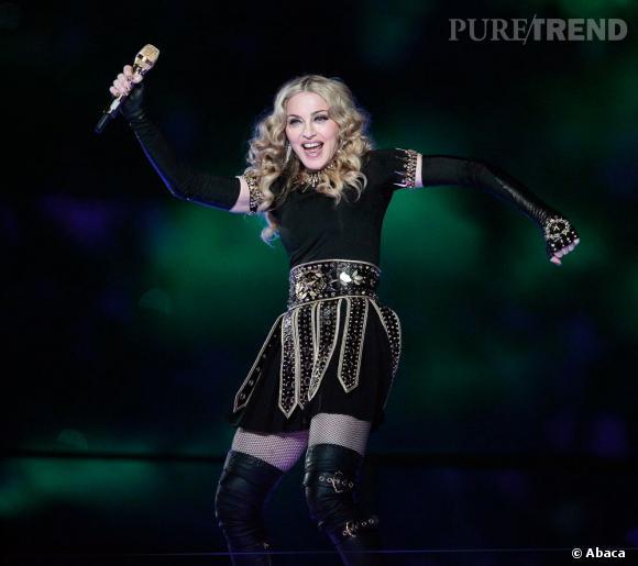 Madonna au Super Bowl 2012.