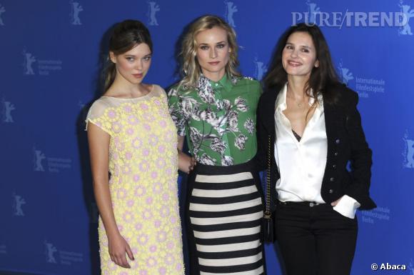 Diane Kruger aux côtés de Léa Seydoux et Virginie Ledoyen : un trio de charme.
