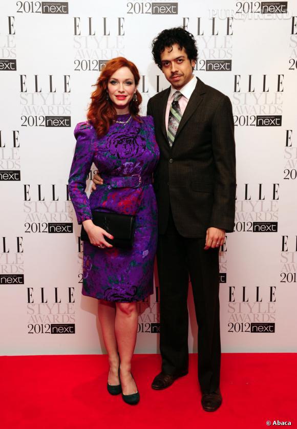 Christina Hendricks et son mari Geoffrey Arend.