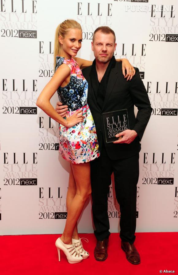 Poppy Delevingne en Mary Katrantzou et le créateur Jonny Johansson de la griffe Acne.