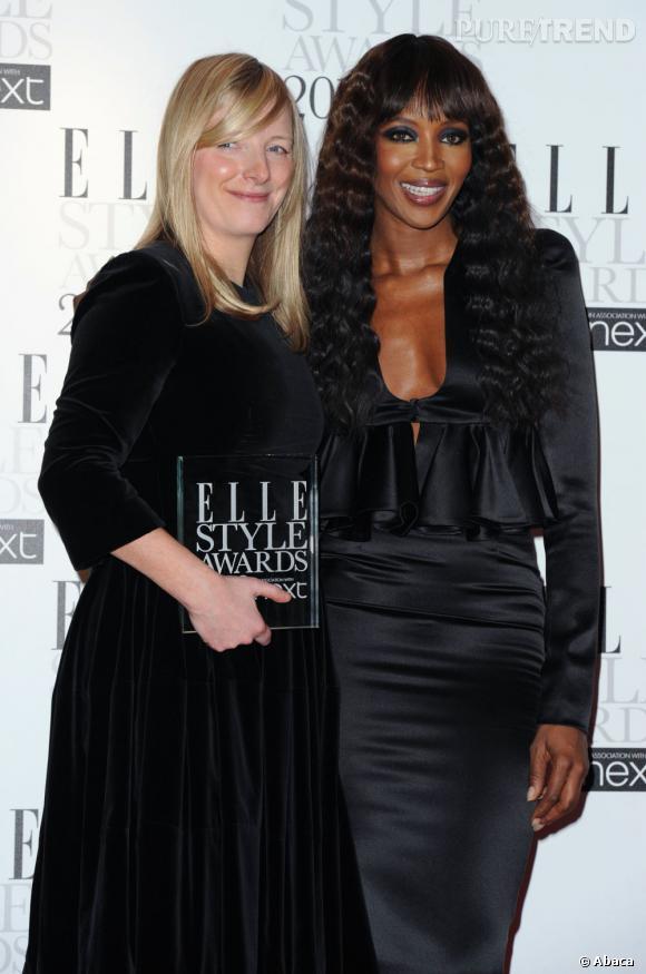 Sarah Burton et Naomi Campbell.