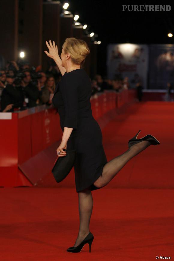 La meilleure pose sur tapis rouge : aérienne et très chic, Meryl Streep fait le show sur le red carpet.
