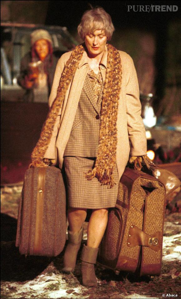"""Le pire costume de tournage : dans la série """"Angels in America"""", Meryl Streep joue une vagabonde."""