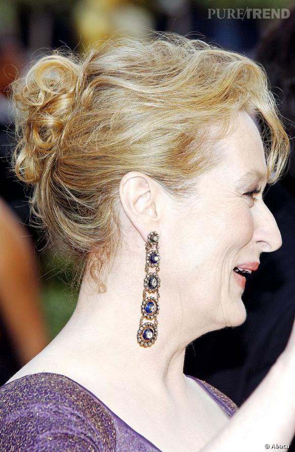 Les meilleures boucles d'oreilles : chic, élégantes, et brillantes. Voilà des bijoux dignes de Meryl Streep.