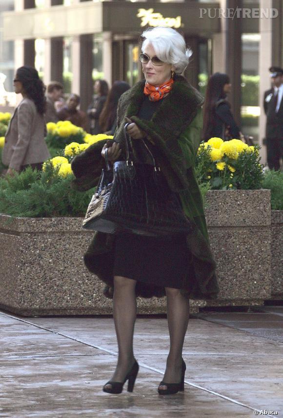 """Le meilleur costume de tournage : pour """"Le diable s'habille en Prada"""", Meryl Streep fait une vraie performance en jouant le rôle de rédactrice de mode."""
